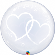 "Entwined Hearts Deco Bubble Balloon (24"") 1pc"
